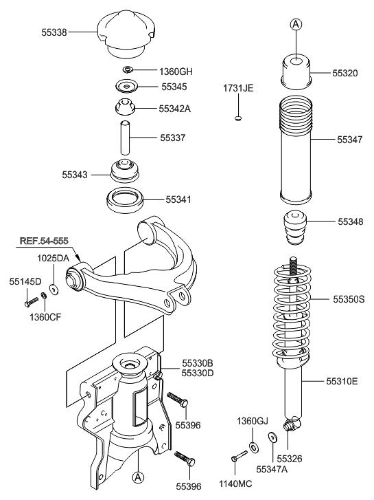 2003 hyundai sonata rear shock absorber  u0026 spring