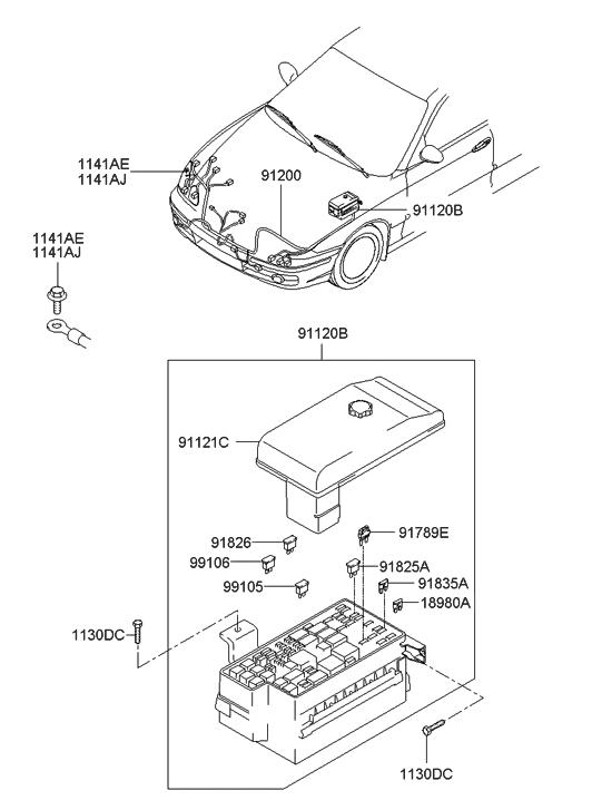 2004 Hyundai Sonata Engine Wiring