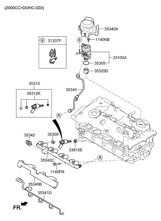35341 2e500 Genuine Hyundai Wire Harness Gdi Injector