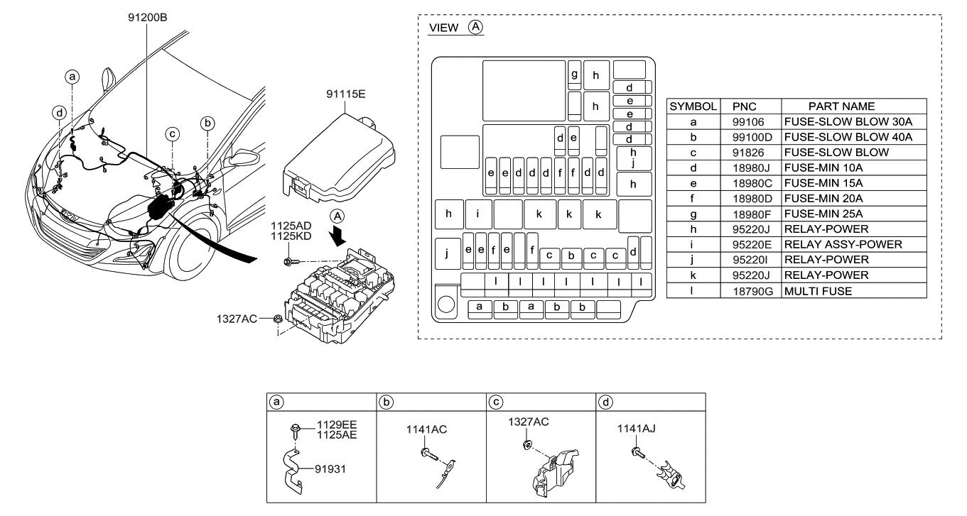 91265-3x070 - genuine hyundai wiring assembly-front 2014 hyundai elantra engine diagram #4