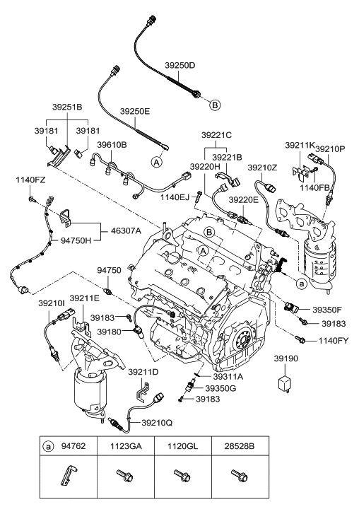 39220 3e110 Genuine Hyundai Sensor Assembly Oil