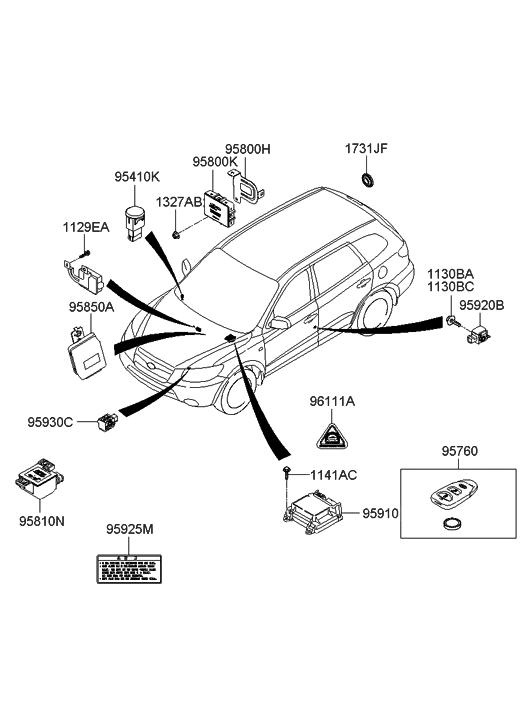 2008 Hyundai Santa Fe Parts Diagram • Wiring Diagram For Free