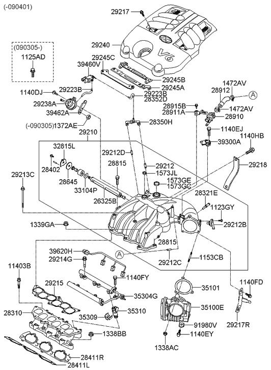 28910 3e100 genuine hyundai valve purge control rh hyundaipartsdeal com 2002 Hyundai Sonata Parts Diagram 2002 hyundai elantra vacuum diagram