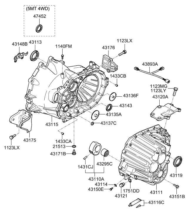 Hyundai Santa Fe 2007 Parts Diagram
