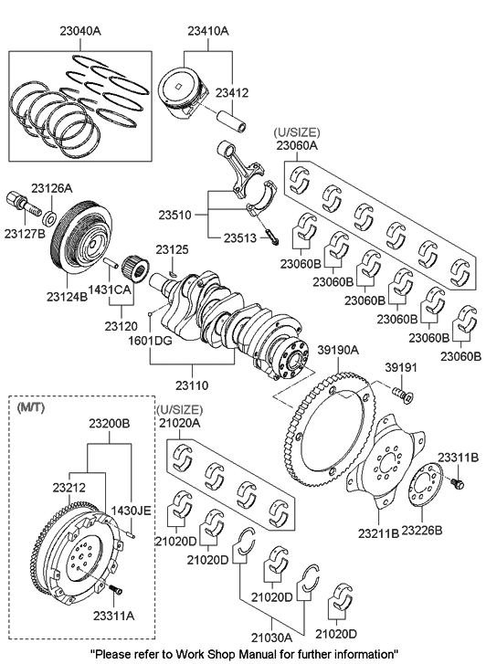 23124 3e020 genuine hyundai pulley damper
