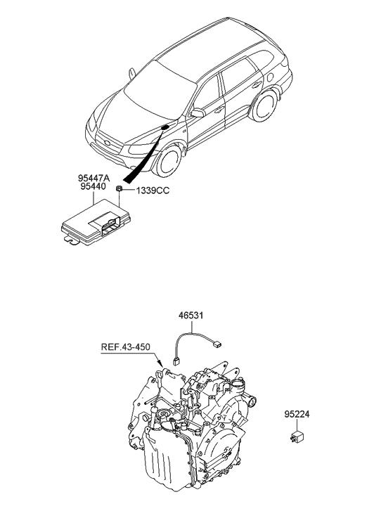 2009 Hyundai Santa Fe Old Body Style Transmission Control Unit