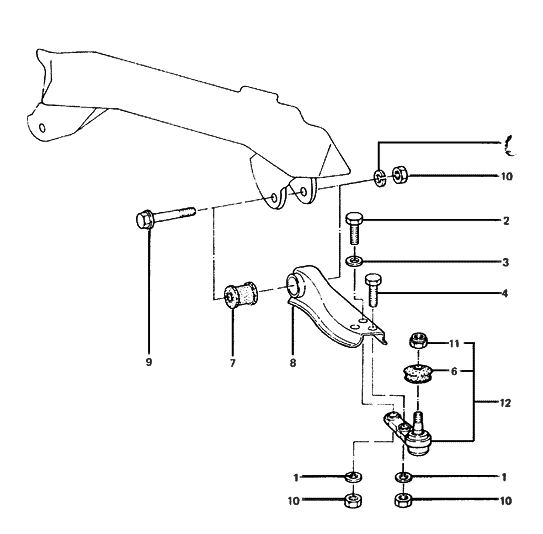 1985 Hyundai Excel front-suspension-lower-arm