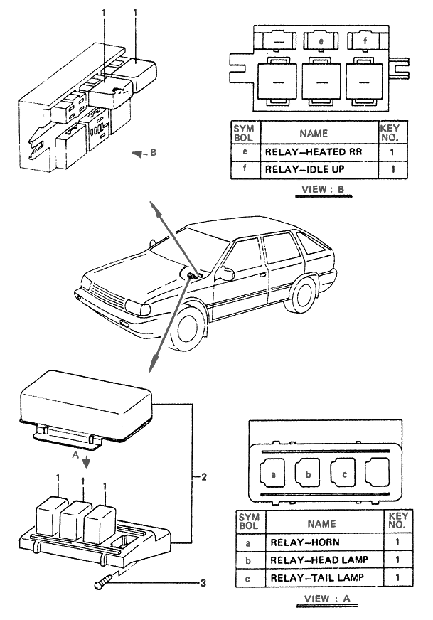 1989 hyundai excel power relay