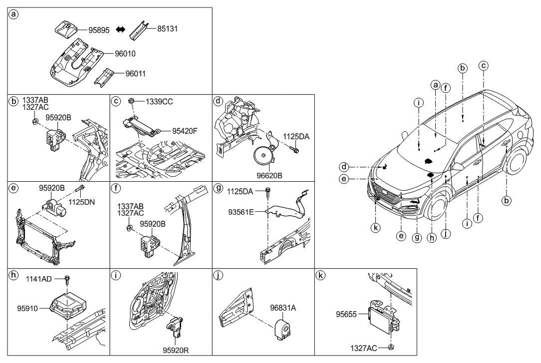 95920 b4000 genuine hyundai sensor assembly side impact rh hyundaipartsdeal com hyundai tucson parts list hyundai tucson spare parts list
