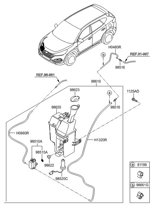 2016 hyundai tucson gas windshield washer hyundai parts deal rh hyundaipartsdeal com 2006 hyundai tucson parts manual hyundai tucson 2005 parts diagram