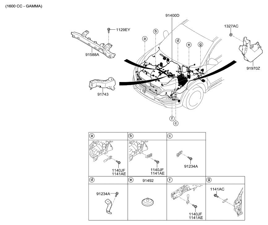 2016 Hyundai Tucson Gas Control Wiring Hyundai Parts Deal