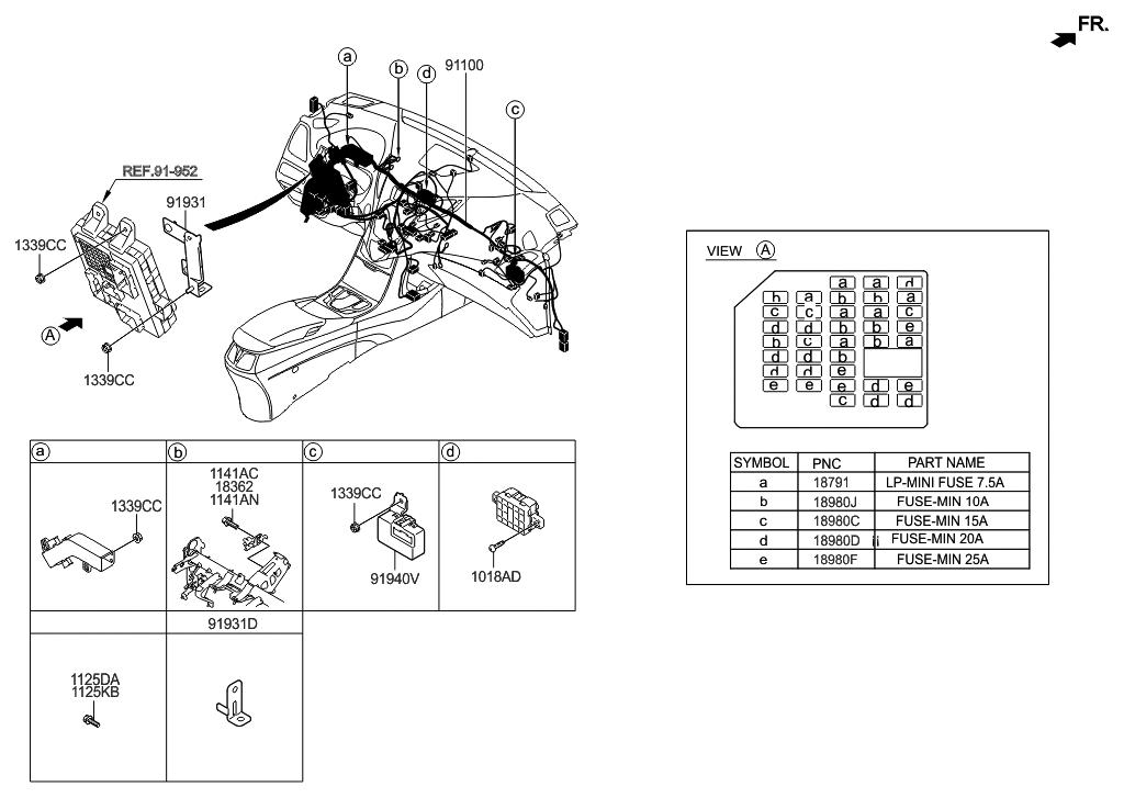 91110 3v031 genuine hyundai wiring assembly main. Black Bedroom Furniture Sets. Home Design Ideas