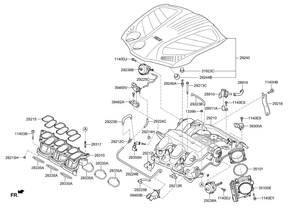 2006 hyundai azera wiring diagram 2013 hyundai azera intake manifold - hyundai parts deal azera engine diagram