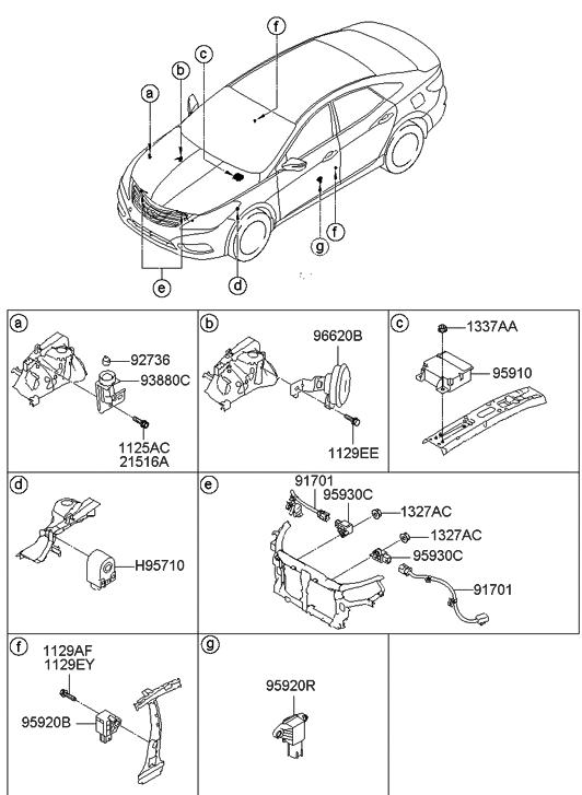 2012 hyundai azera relay & module - thumbnail 1
