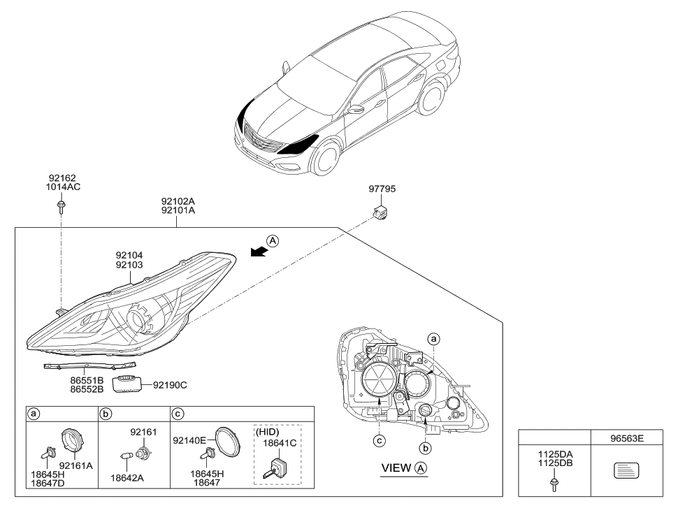 92190 3v000 genuine hyundai ballast assembly headlamp. Black Bedroom Furniture Sets. Home Design Ideas