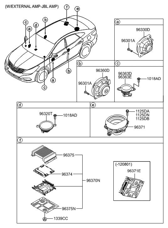 96340 3s200 genuine hyundai speaker assembly rear door. Black Bedroom Furniture Sets. Home Design Ideas