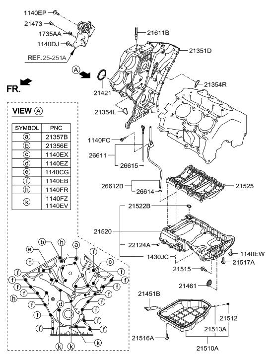 21351 3caa3 genuine hyundai cover timing chain ff. Black Bedroom Furniture Sets. Home Design Ideas