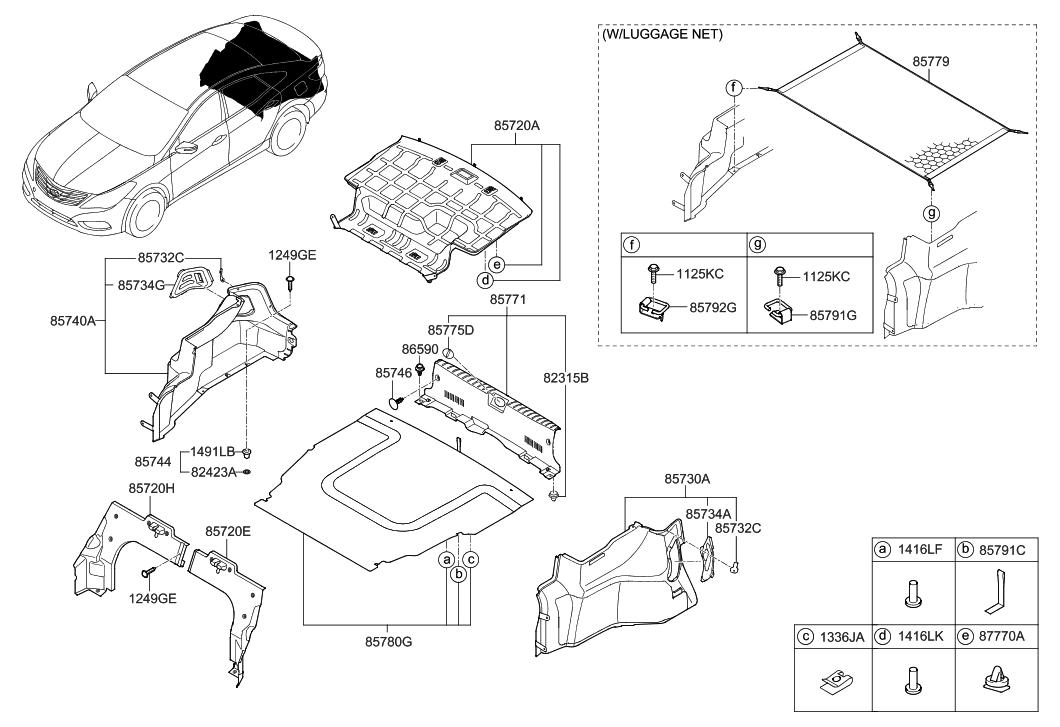 85701 3v400 ry genuine hyundai board assembly luggage. Black Bedroom Furniture Sets. Home Design Ideas