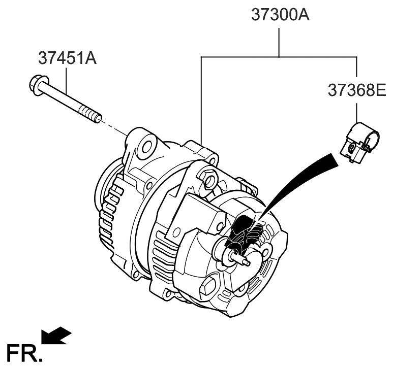 2013 hyundai azera alternator