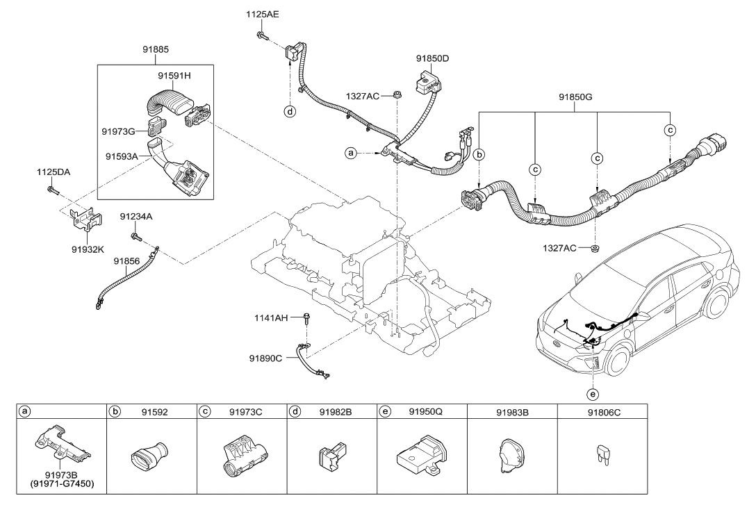 91931 G7300 Genuine Hyundai Bracket Wiring Mounting 2017 Ioniq Electric Miscellaneous