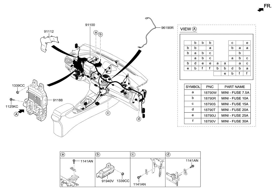 91940 g2110 genuine hyundai box assembly icm relay. Black Bedroom Furniture Sets. Home Design Ideas