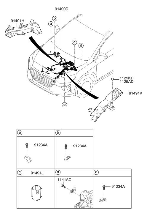 2018 Hyundai Ioniq Hybrid Control Wiring Hyundai Parts Deal