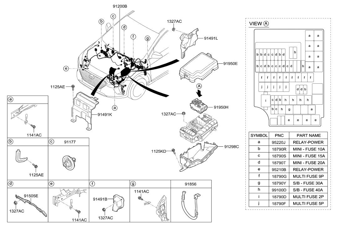 91959 g2010 genuine hyundai pcb block assembly. Black Bedroom Furniture Sets. Home Design Ideas