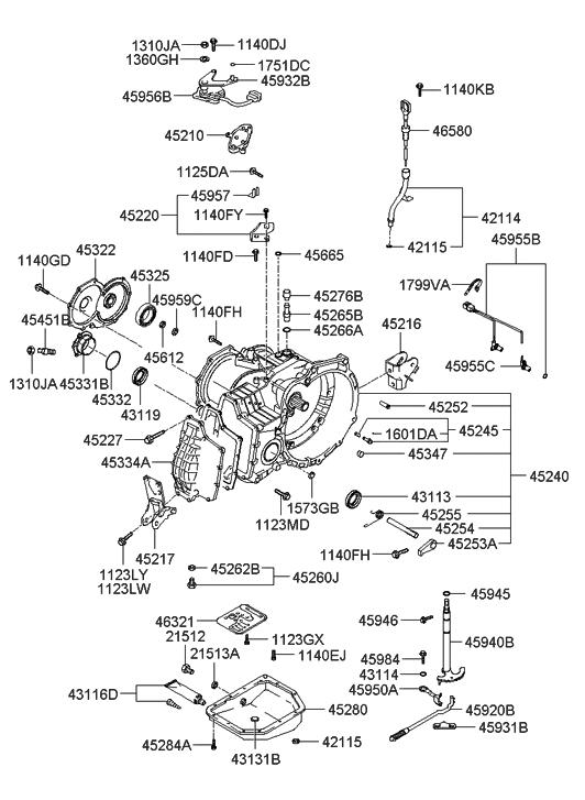 43119-28003 - Genuine Hyundai Seal-Oil