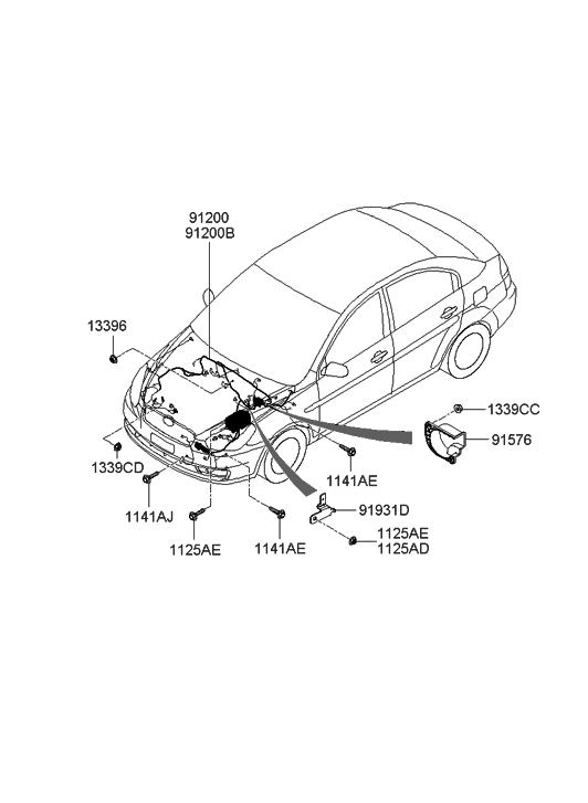 2005 Hyundai Accent New Body Style Engine Wiring