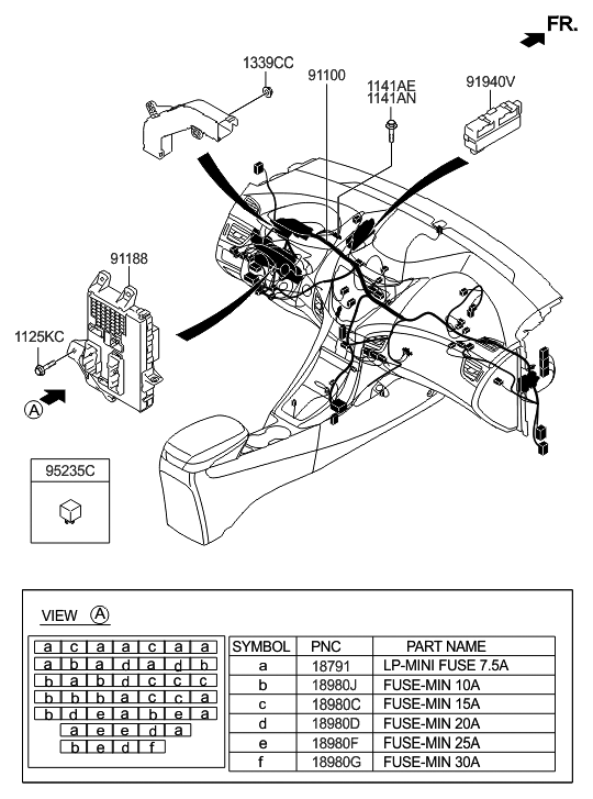 2015 Hyundai Elantra US Alabama made Main Wiring
