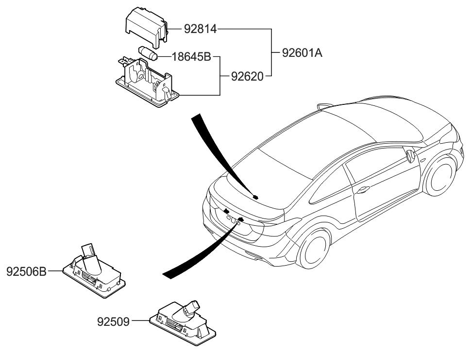 2015 Hyundai Elantra US Alabama made License Plate