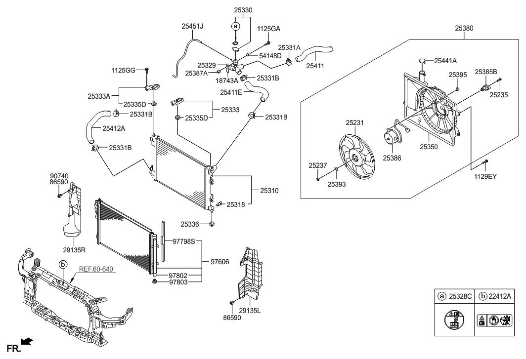 2015 Hyundai Elantra US Alabama made Engine Cooling System