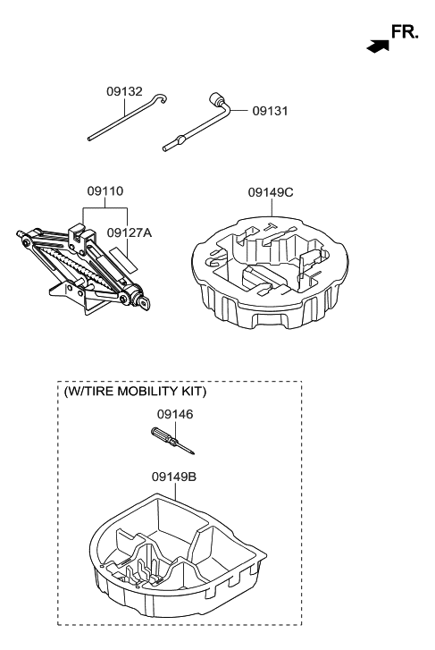 09149 3y900 Genuine Hyundai Case Mobility Kit