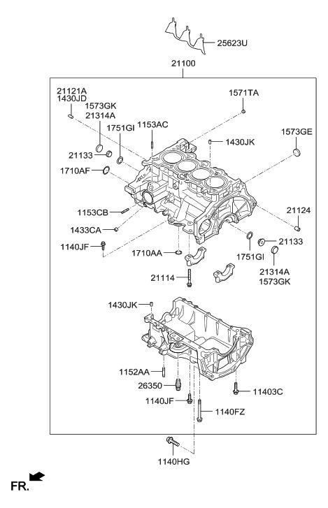 2013 Hyundai Accent Cylinder Block Hyundai Parts Deal