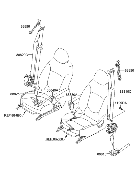 2013 hyundai accent front seat belt hyundai parts deal. Black Bedroom Furniture Sets. Home Design Ideas