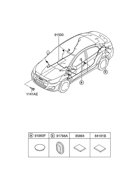2012 Hyundai Accent Floor Wiring
