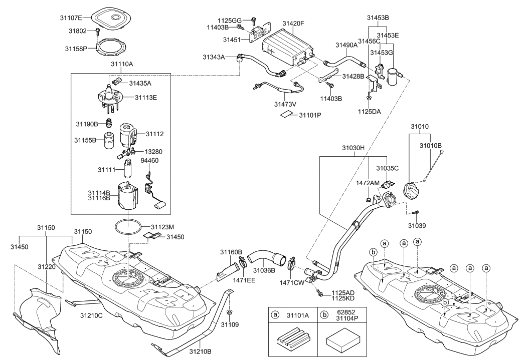 62852-1R000 - Genuine Hyundai PAD-SPARE TIREGenuine Hyundai Parts