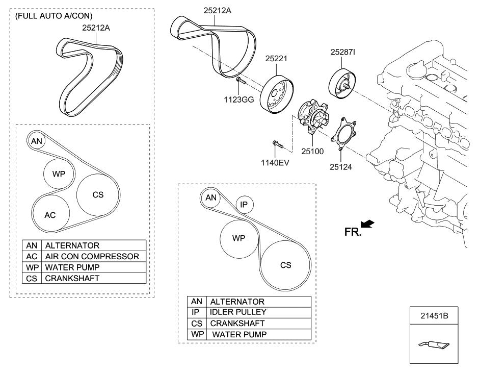 2011 hyundai sonata serpentine belt diagram image japan