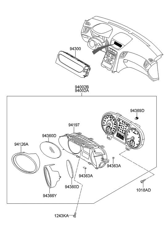 2010 Hyundai Genesis Coupe Instrument Cluster