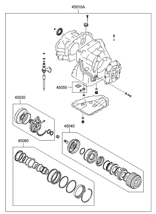 2010 Hyundai Genesis Coupe Transaxle Gasket Kit-Auto