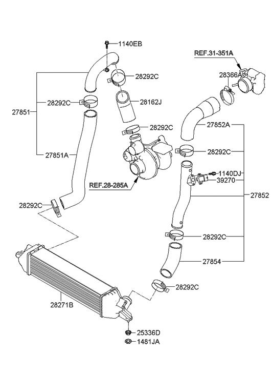 2011 Hyundai Genesis Coupe Turbocharger & Intercooler