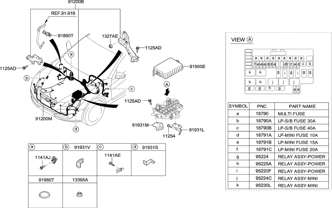 18790 01029 genuine hyundai multi fuse rh hyundaipartsdeal com genesis coupe engine diagram