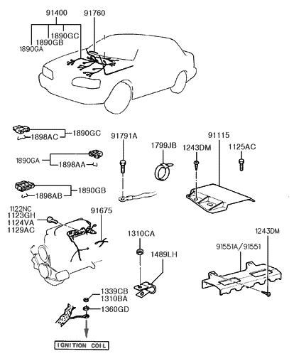 1992 hyundai excel control-wiring