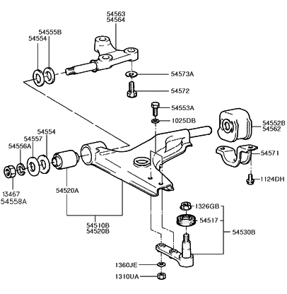 1990 Hyundai Excel front-suspension-lower-arm