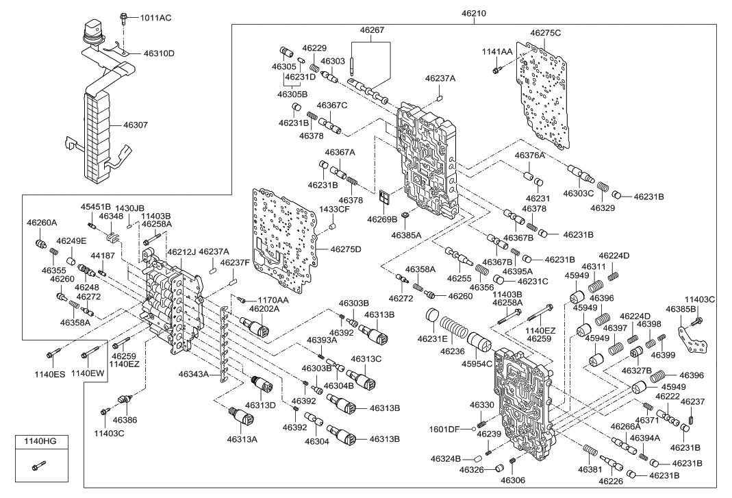Genuine Hyundai 46326-3B000 Damping Valve Body Assembly