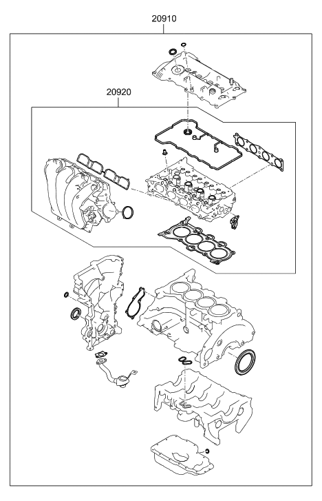 hyundai 20910 2ea01 a 2002 Hyundai Santa Fe Engine Diagram