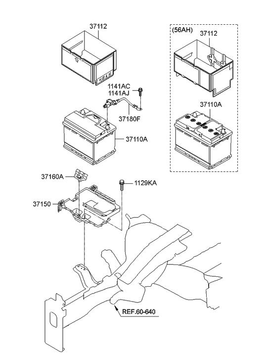 2012 Hyundai Elantra Korean Made Battery Amp Cable