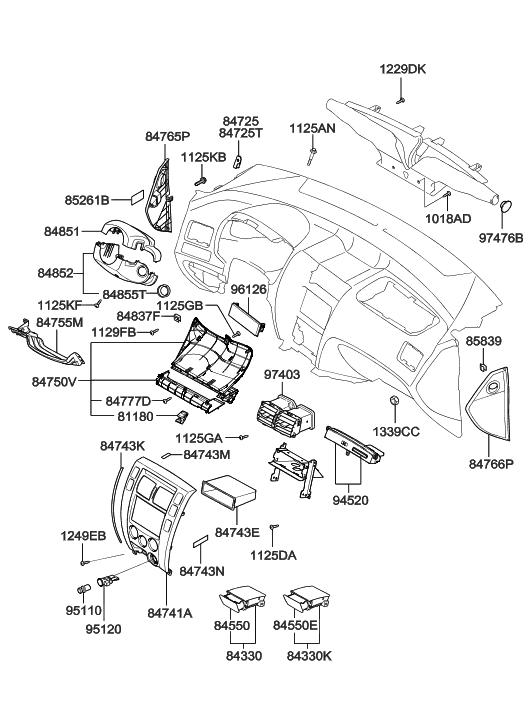 Genuine Hyundai 84765-2E200-DD Pad Cover Assembly