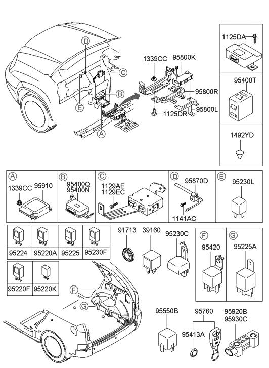 2004 Hyundai Tucson Relay  U0026 Module