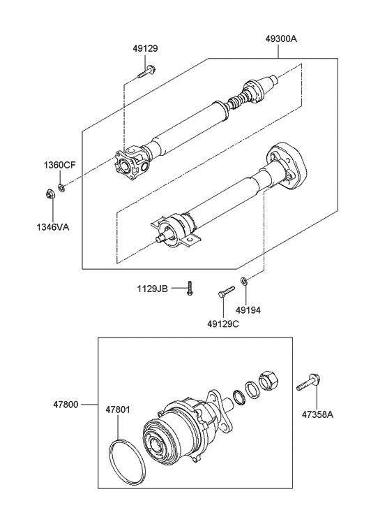 2005 hyundai tucson propeller shaft hyundai parts deal. Black Bedroom Furniture Sets. Home Design Ideas